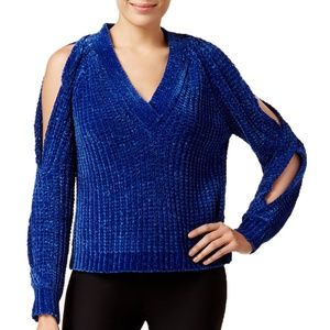 MARLED Twist Sleeve Pullover Sweater
